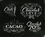 Chocolate labels collection black