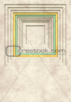 Background with texture of old paper and square frame
