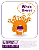 Illustration of a monster saying who's there
