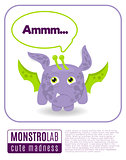 Illustration of a monster saying ammm.