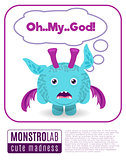 Illustration of a monster saying omg