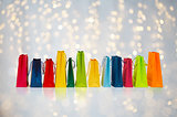 shopping bags over holidays lights background