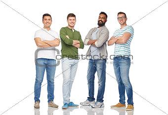 international group of happy smiling men
