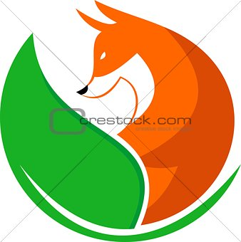 fox with leaf logo