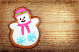 The gingerbread snowman