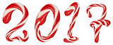 Striped christmas candy 2017. New Year