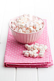 mini marshmallows in bowl