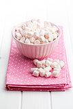 mini marshmallows in bowl