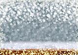 Christmas Bokeh background and luminous lights.