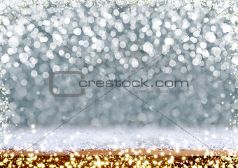 Christmas Bokeh background and luminous lights.