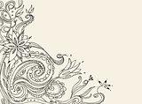Floral doodle card