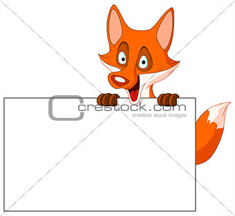 Fox with sign