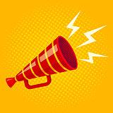 red retro megaphone