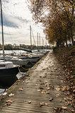 Pontoon on the Erdre river