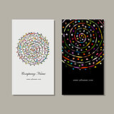 Business card design, floral mandala