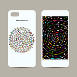 Mobile phone cover design, floral mandala