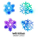 Winter Watercolour Snowflakes