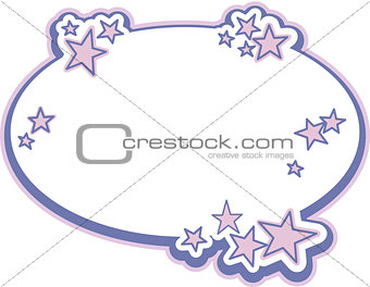 Blank label tag with star