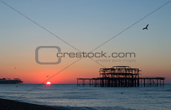 Brighton Piers Sunrise