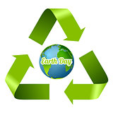 Earth Day design with recycle arrows