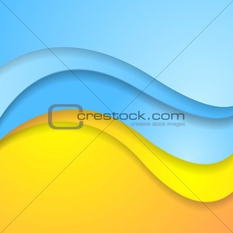 Bright abstract contrast corporate wavy background