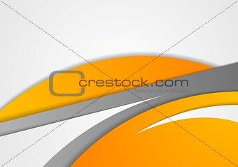 Abstract corporate orange grey wavy background