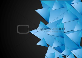 Abstract polygonal tech vector background