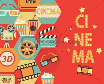 Cinema background, vector.
