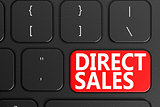 Direct Sales on black keyboard