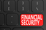 Financial Security on black keyboard