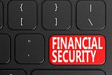 Financial Security on black keyboard