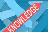 Knowledge arrow pointing upward