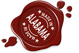Label seal of made in Alabama