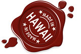 Label seal of made in Hawaii