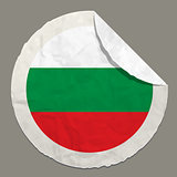 Bulgaria flag on a paper label