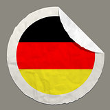 Germany flag on a paper label