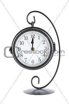 Clock showing midnight