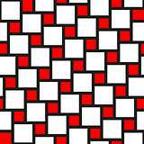 Vector red and white tiles seamless pattern
