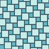 Vector blue tiles seamless pattern