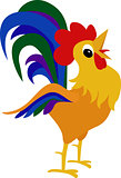 Rooster, cock cartoon design element