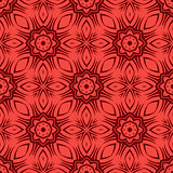 Red Ornamental Seamless Line Pattern