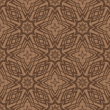 Brown Ornamental Seamless Line Pattern