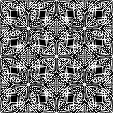 Dark Ornamental Seamless Line Pattern