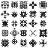 Set of Different Tribal Rosettes Tattoo Design