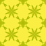 Yellow Ornamental Seamless Pattern