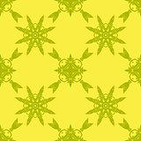 Yellow Ornamental Seamless Pattern