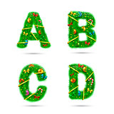 Fir tree font letters.