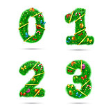 Fir tree font numbers.