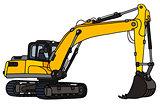 Yellow big excavator