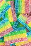 colorful fruit sugar gummies candy